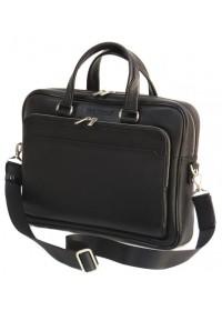 Черная кожаная мужская сумка BLACK DIAMOND BD6A