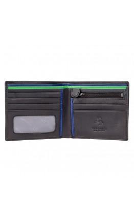 Кошелек мужской Visconti BD707 Le-chifre (Black Cobalt Green)