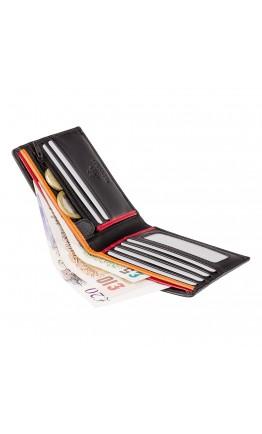 Мужской удобный кошелек Visconti BD707 Le-chifre (Black Red Orange)