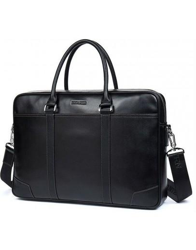 Фотография Черная мужская вместительная деловая сумка BS0109-1