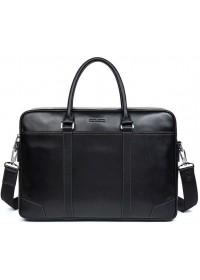 Черная мужская вместительная деловая сумка BS0109-1