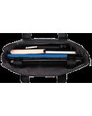 Фотография Черная мужская кожаная сумка для ноутбука BS6901