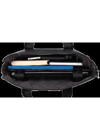 Черная мужская кожаная сумка для ноутбука BS6901