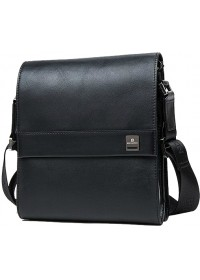Кожаная мужская сумка на плечо черного цвета BS7301