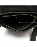 Фотография Черный кожаный мессенджер с тиснением BX1002A