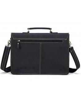 Кожаный черный мужской деловой портфель BX1061A