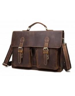 Кожаный мужской портфель коричневый BX1061C
