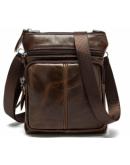 Фотография Коричневая сумка на плечо небольшая BX124C