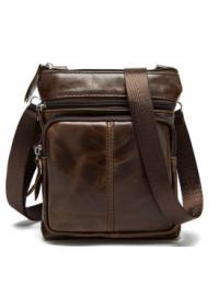 Коричневая сумка на плечо небольшая BX124C