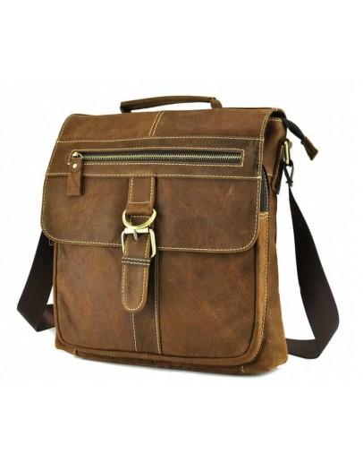 Фотография Кожаная мужская сумка в руку и на плечо BX1292R