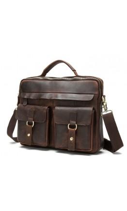 Удобная мужская коричневая сумка на каждый день BX8001C