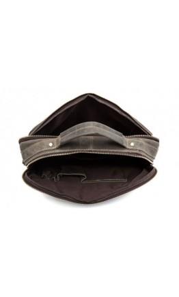 Кожаная мужская сумка, серый цвет BX8001J