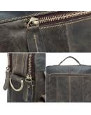Фотография Кожаная мужская сумка, серый цвет BX8001J