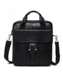 Фотография Кожаная черная сумка формата A4 BX8809A
