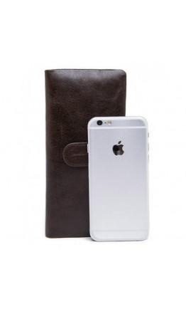 Клатч кожаный мужской коричневый BX9202