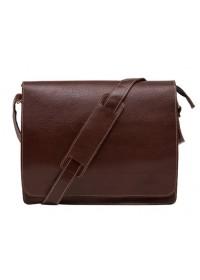 Коричневая сумка мужская на плечо большая BXA603C