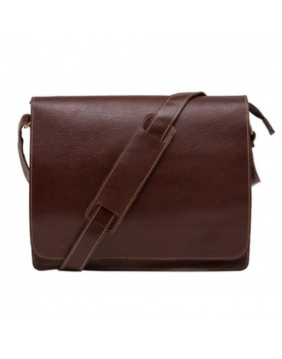 Фотография Коричневая сумка мужская на плечо большая BXA603C
