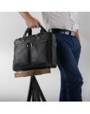 Фотография Мужская кожаная сумка для города и ноутбука Blamont Bn001A-1