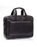 Фотография Кожаная черная матовая мужская деловая сумка Blamont Bn005AS