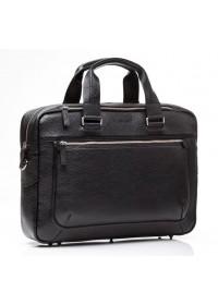 Кожаная черная матовая мужская деловая сумка Blamont Bn005AS