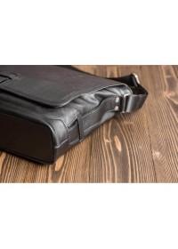 Черная кожаная сумка - портфель Blamont Bn059A