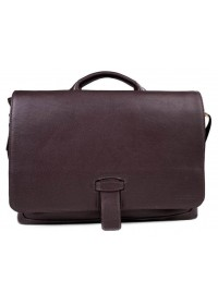 Коричневая деловая мужская кожаная сумка - портфель Blamont Bn059C