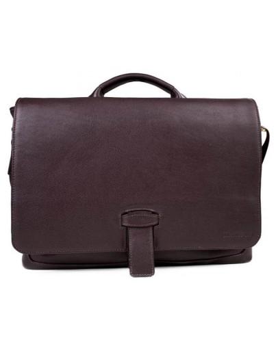 Фотография Коричневая деловая мужская кожаная сумка - портфель Blamont Bn059C