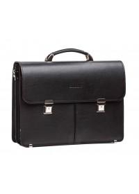 Черный деловой мужской портфель из натуральной кожи Bn063A