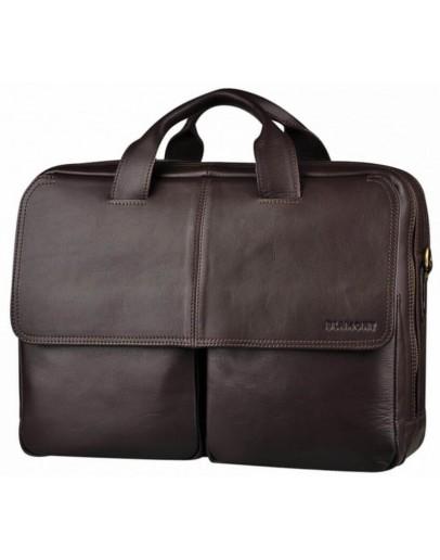 Фотография Вместительная кожаная сумка - тревел кейс Blamont Bn065C-1