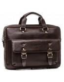 Фотография Мужская коричневая деловая сумка - портфель Blamont Bn080C