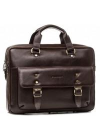 Мужская коричневая деловая сумка - портфель Blamont Bn080C