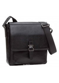Вместительная черная мужская плечевая сумка Blamont Bn081A