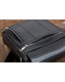 Фотография Вместительная черная мужская плечевая сумка Blamont Bn081A