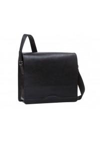 Черная деловая сумка на плечо формата A4 Blamont Bn090A
