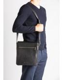 Фотография Черная сумка мужская большая на плечо Blamont Bn091A