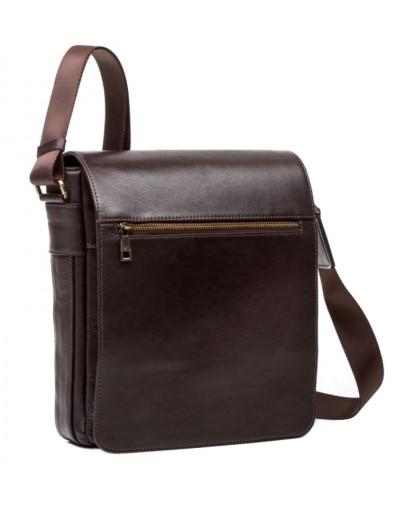 Фотография Коричневая сумка мужская большая на плечо Blamont Bn091C