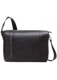 Черная горизонтальная сумка на плечо формата A4 Blamont Bn092A