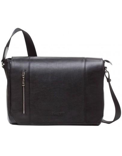 Фотография Черная горизонтальная сумка на плечо формата A4 Blamont Bn092A