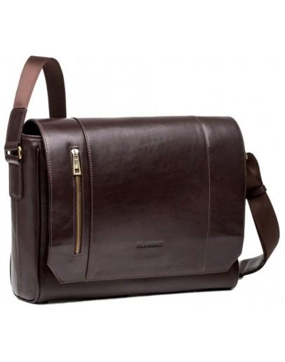 Фотография Коричневая сумка горизонтальная формата A4 Blamont Bn092C