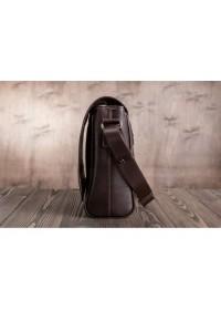Коричневая сумка горизонтальная формата A4 Blamont Bn092C