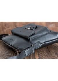 Черная удобная плечевая мужская сумка Blamont Bn093A