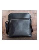 Фотография Черная удобная плечевая мужская сумка Blamont Bn093A