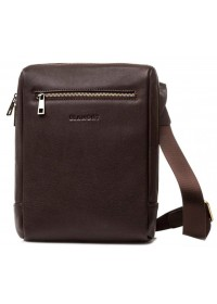 Коричневая кожаная мужская сумка - планшетка Blamont Bn095C