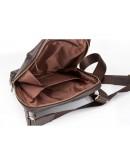 Фотография Коричневая кожаная мужская сумка - планшетка Blamont Bn095C