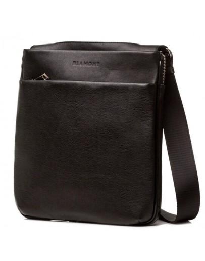 Фотография Черная повседневная кожаная сумка через плечо Blamont Bn096A