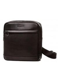 Черная мужская кожаная сумка без клапана Blamont Bn097A