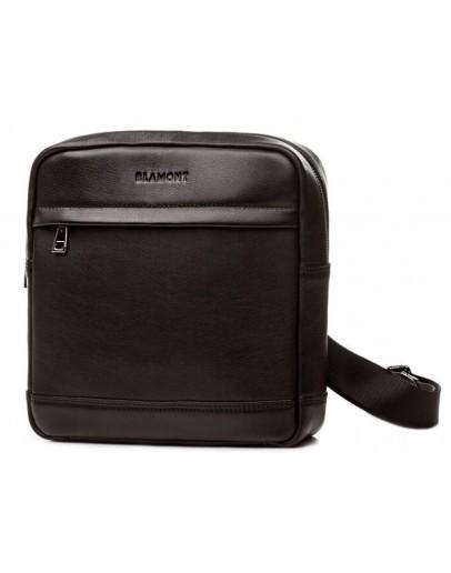 Фотография Черная мужская кожаная сумка без клапана Blamont Bn097A