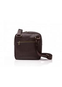 Коричневая кожаная сумка без клапана Blamont Bn097C