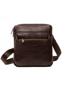 Коричневая кожаная мужская сумка на плечо Blamont Bn098C