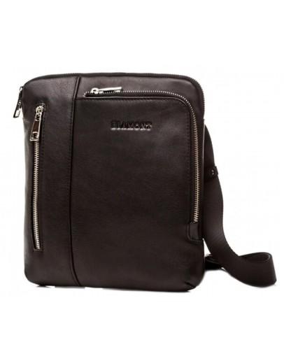 Фотография Черная мужская сумка кожаная планшетка Blamont Bn099A